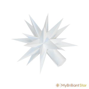 Star of Original Herrnhut plastic star chain, white, ~ 12 m / 470 inch length