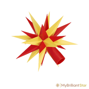 Star of Original Herrnhut plastic star chain, yellow / red, ~ 12 m / 470 inch length