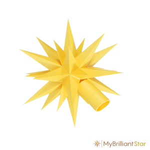 Star of Original Herrnhut plastic star chain, yellow, ~ 12 m / 470 inch length