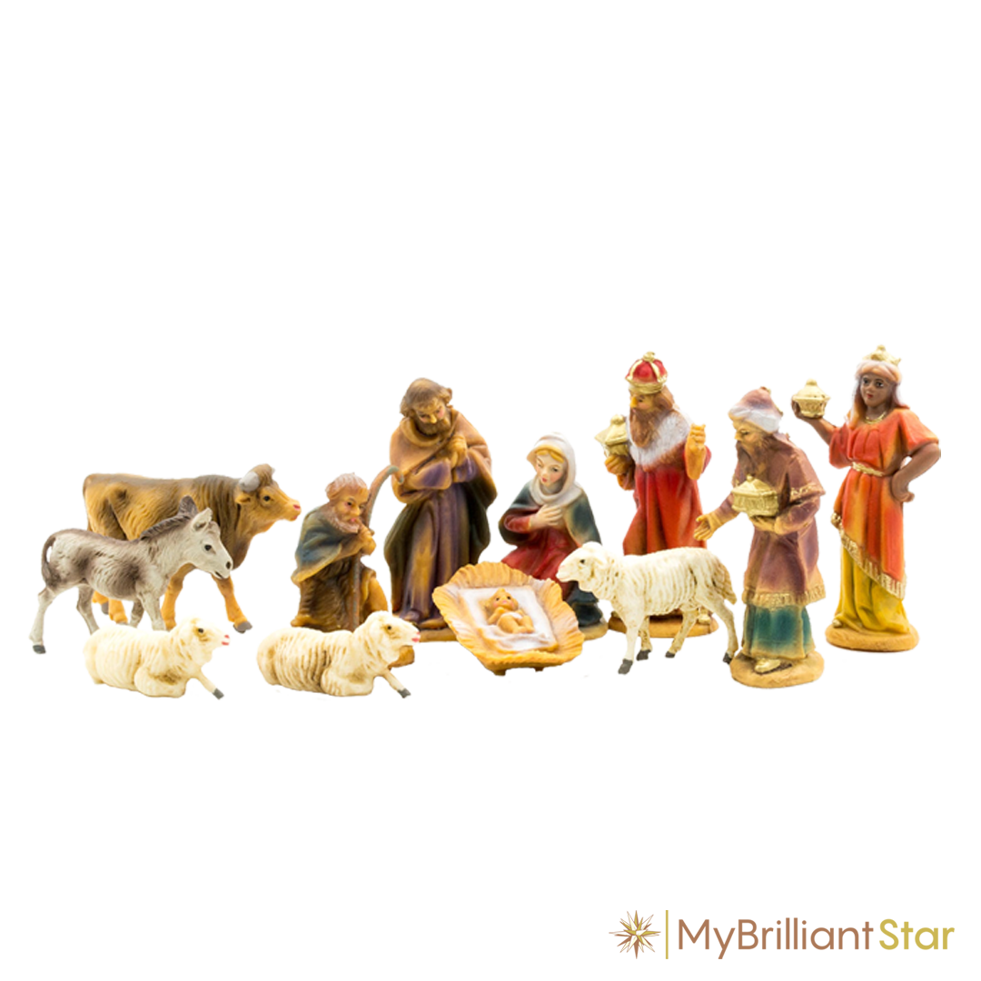 Original MAROLIN®-Nativity set, 12 pcs. - 7 cm / 2.75 inch