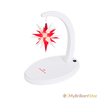 Starbow white painted/white red star