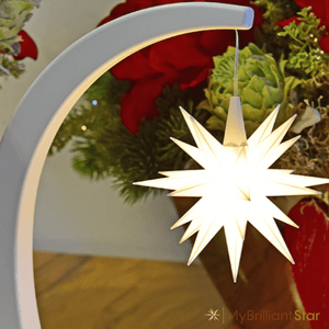 Herrnhut Star Bow white with white star