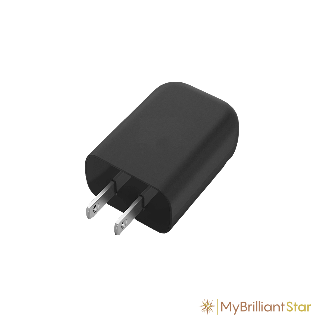 USB charger for USB cable connection plastic star ~ 13 cm / 5 inch ø