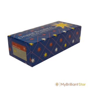 Box for Original Herrnhut paper star, yellow / red center, ~ 40 cm / 16 inch ø