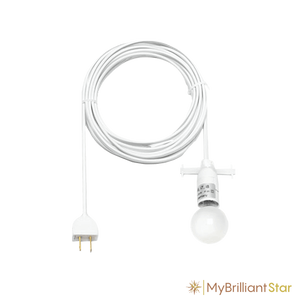 Cable for Original Herrnhut paper star, white, ~ 40 cm / 16 inch ø