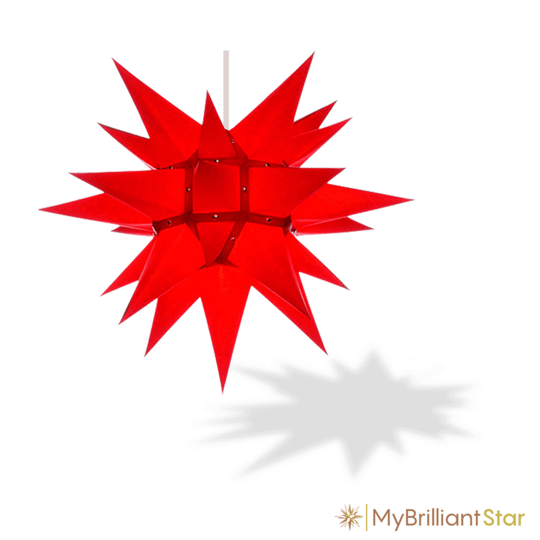 Original Herrnhut paper star, red, ~ 40 cm / 16 inch ø