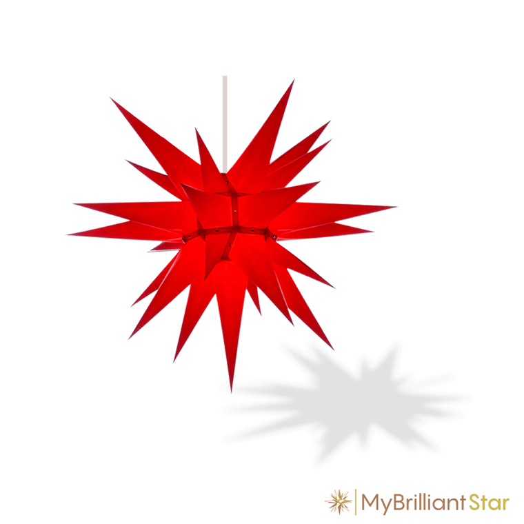 Original Herrnhut paper star, red, ~ 60 cm / 24 inch ø