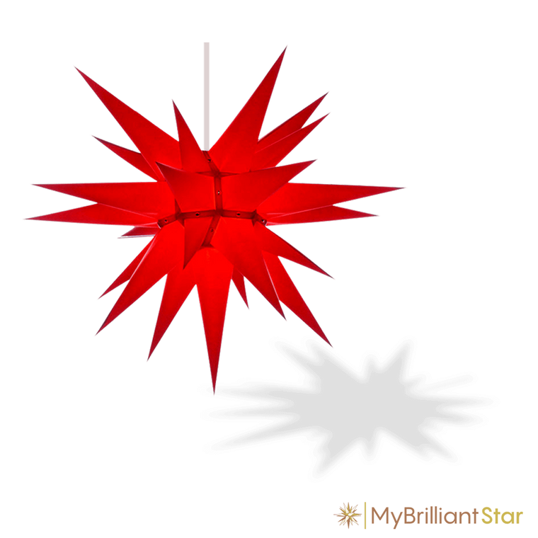 Original Herrnhut paper star, red, ~ 70 cm / 27 inch ø
