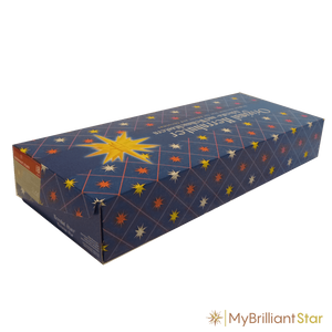 Box for Original Herrnhut paper star, yellow / red center, ~ 80 cm / 32 inch ø