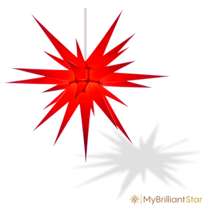 Original Herrnhut paper star, red, ~ 80 cm / 32 inch ø