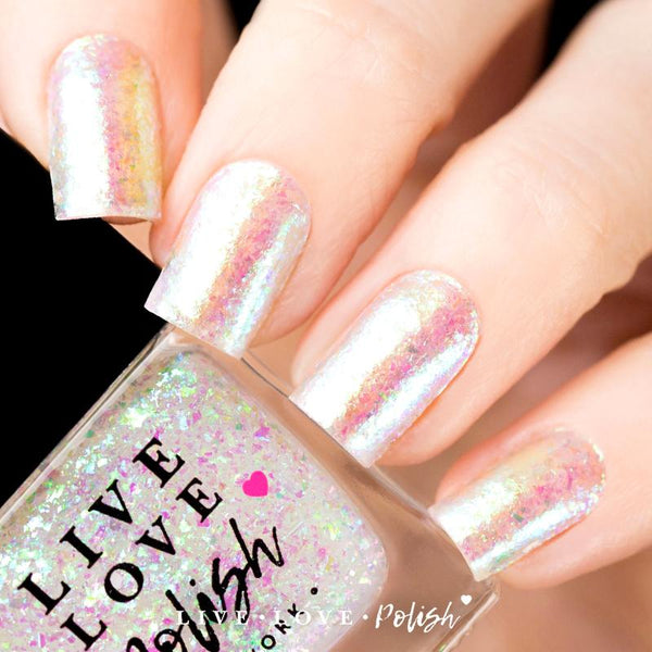 iridescent flake nail polish topper