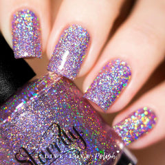Swatch of Starrily Menchie The Cat Nail Polish