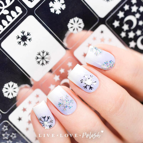 Live Love Polish Snow Much Fun Nail Vinyls