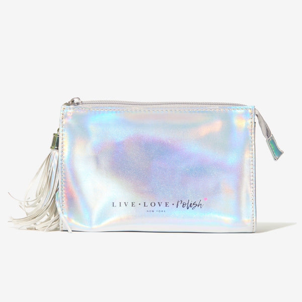 Live Love Polish Holographic Cosmetic Bag