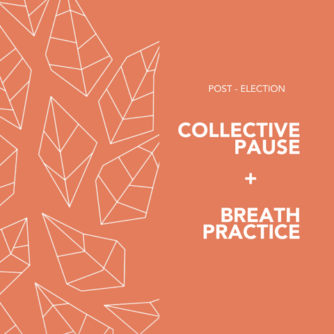 Post-election collective pause + breath practice