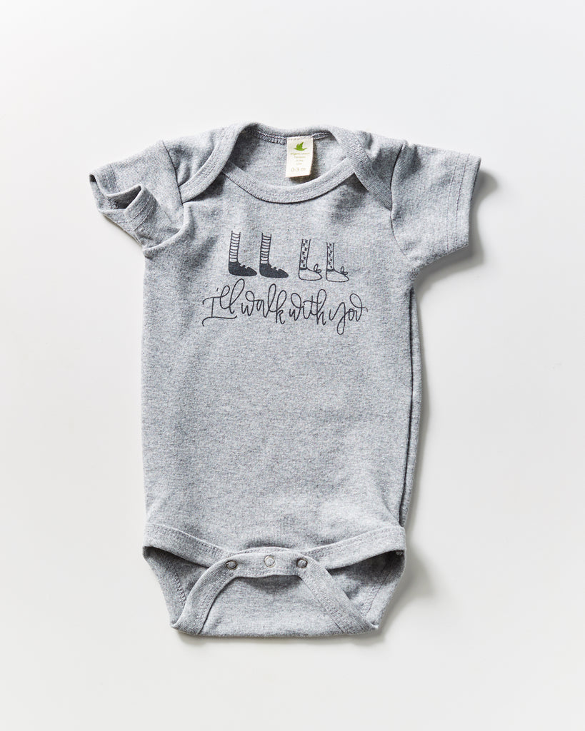 I'll Walk With You Organic Bodysuit