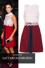 Celebrity Lace Bodice Swing Dress