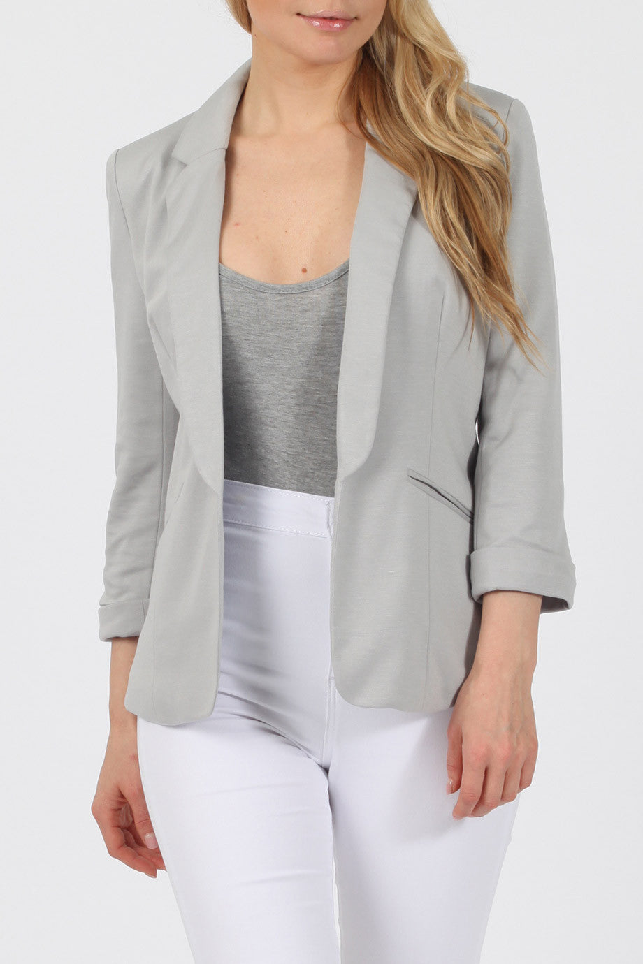 Tailored Blazer - Grey