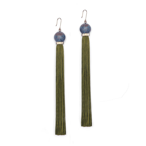 Long Tremble Tassel Earring - Hera