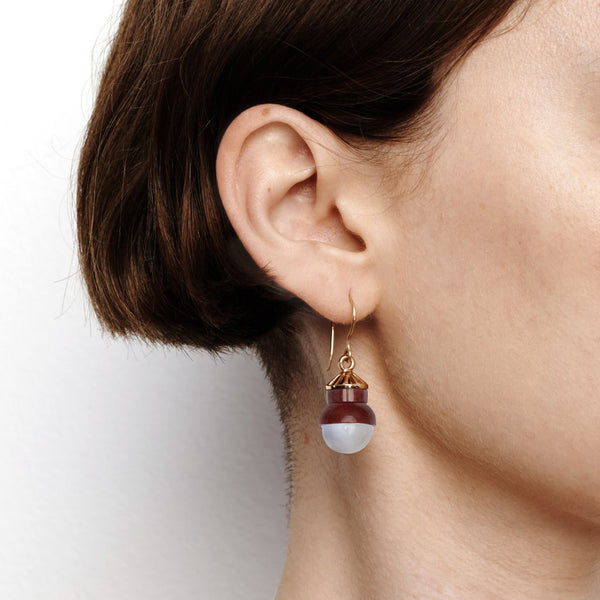Accidental Earrings - Blue Laced Agate