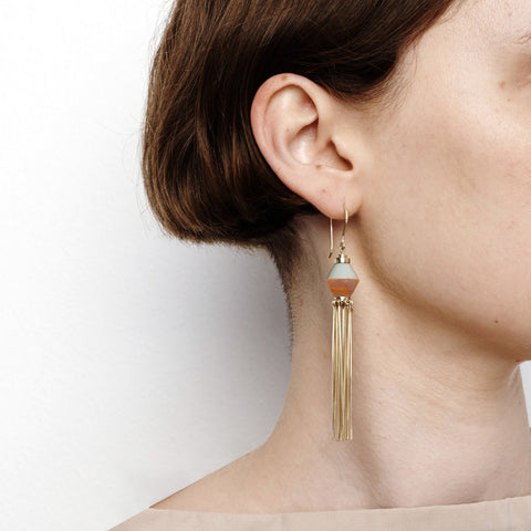 Disorientation Earrings - Sea Mist