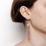 Disorientation Earrings - Blue Laced Agate