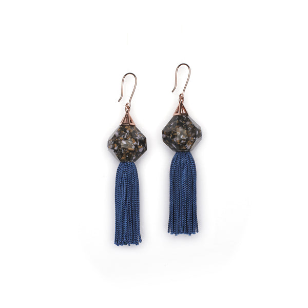 Mythical Tassel Earring - Steel