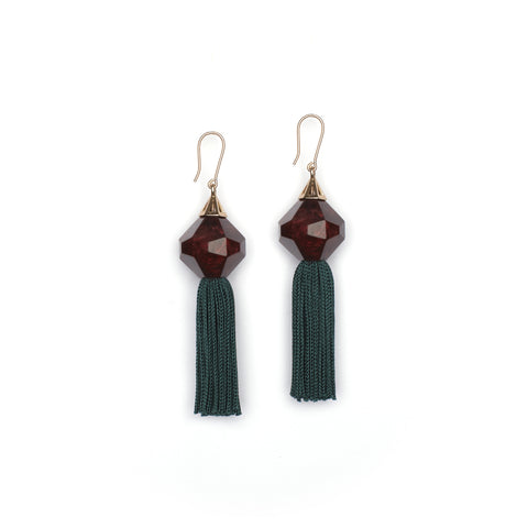 PRE ORDER // Mythical Tassel Earring - Split Rose