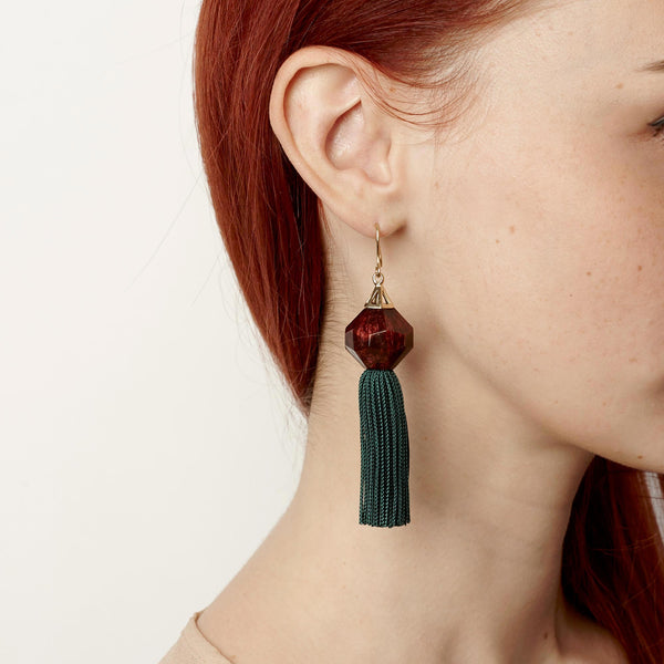 PRE ORDER // Mythical Tassel Earring - Hunter