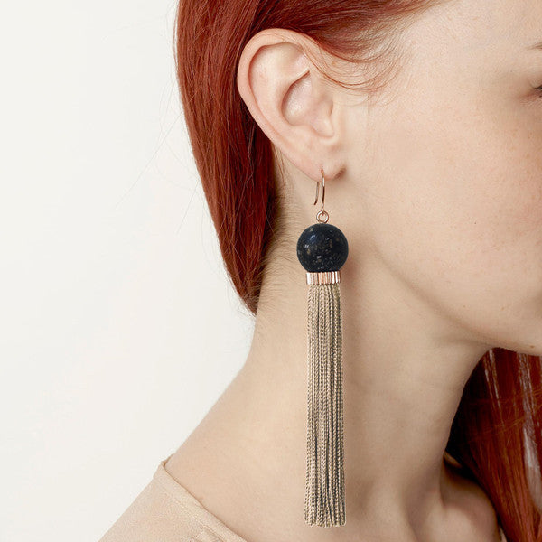 Long Silky Tassel Earrings