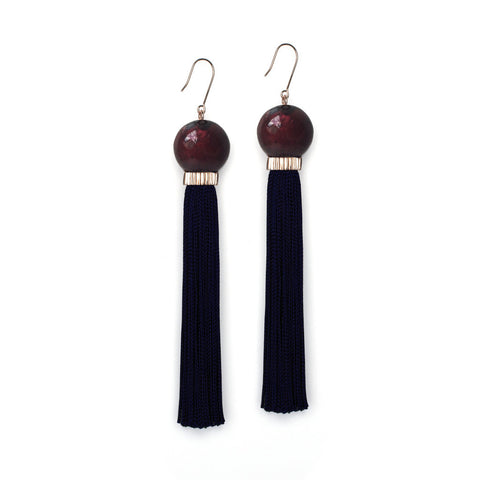 PRE ORDER // Tremble Tassel Earring - Black
