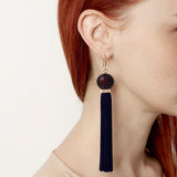 Tremble Tassel Earring - Black