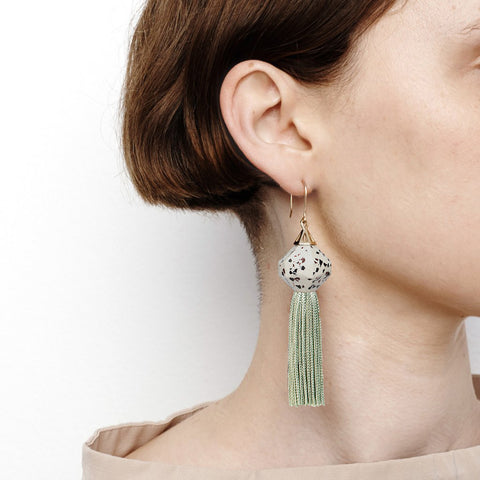 PRE ORDER // Mythical Tassel Earring - Mix Granite