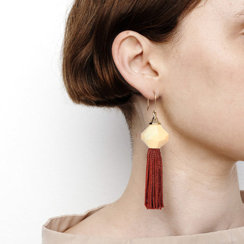 Mythical Tassel Earring - New Blush