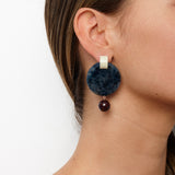 Olympus Earrings - Slate Fleck