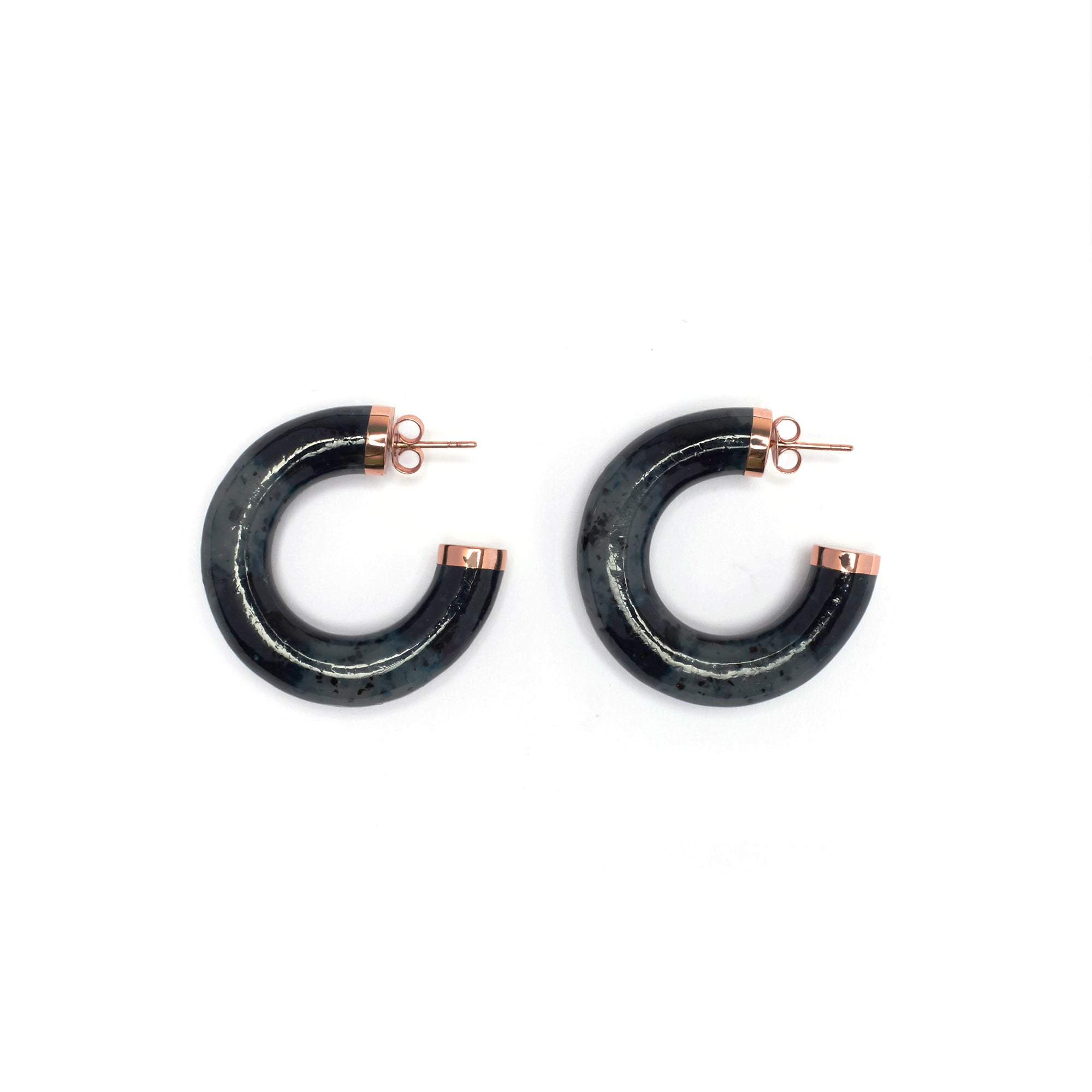 Mara Earrings - Slate Fleck