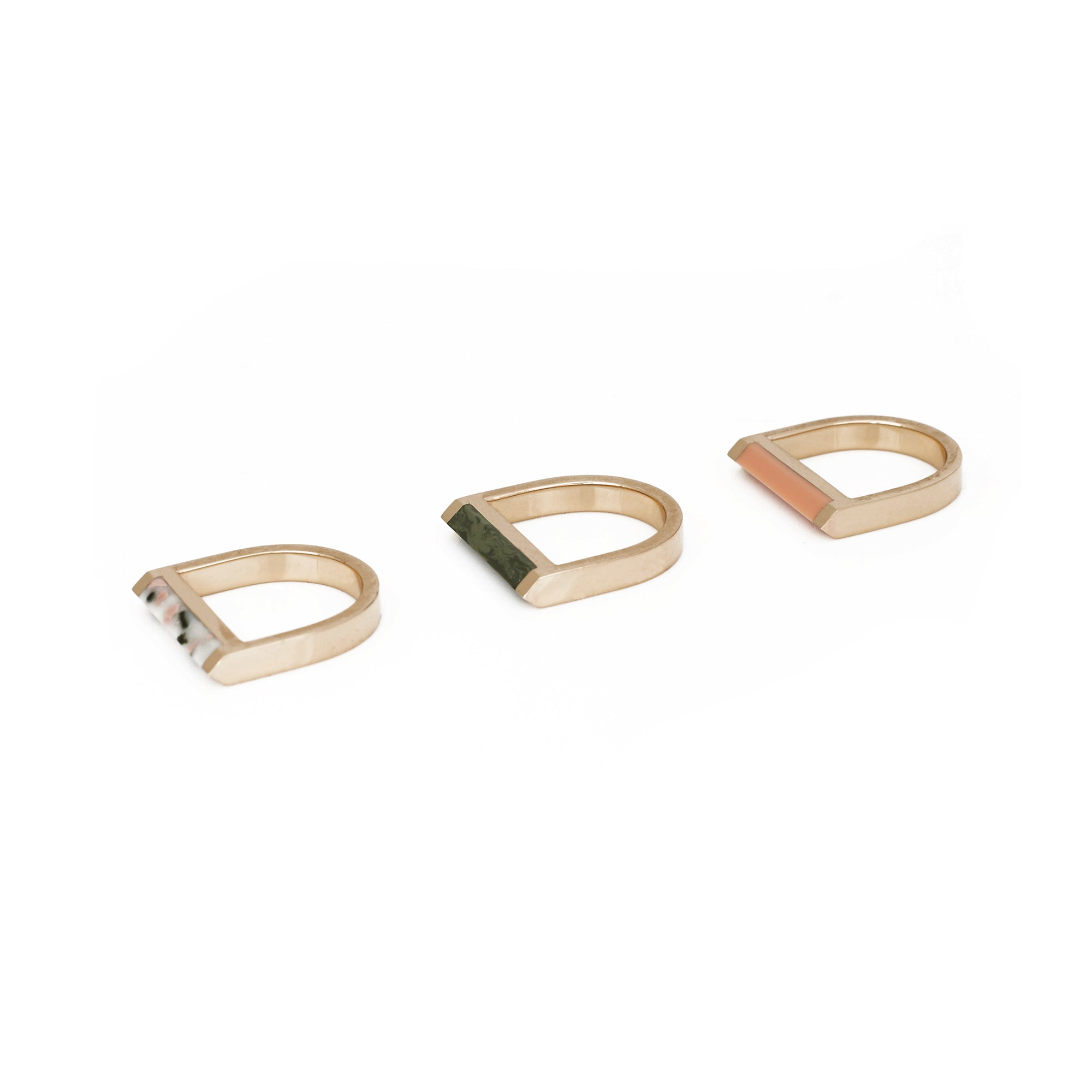 Alexandra Ring Set - Pink Clay