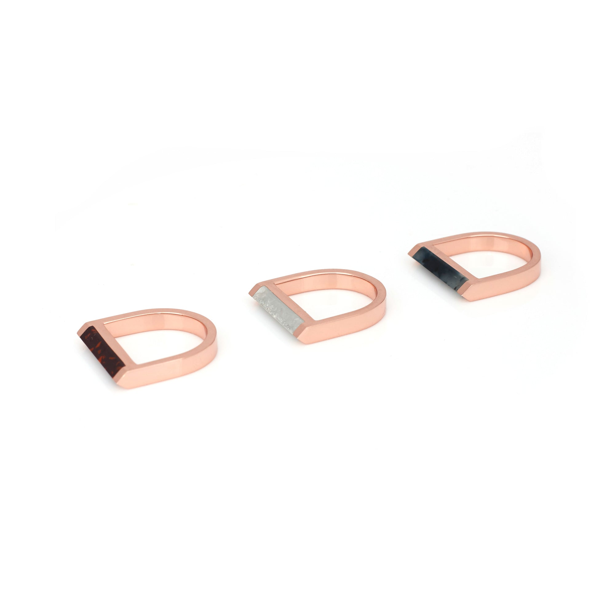 Alexandra Ring Set - Augergine Chip