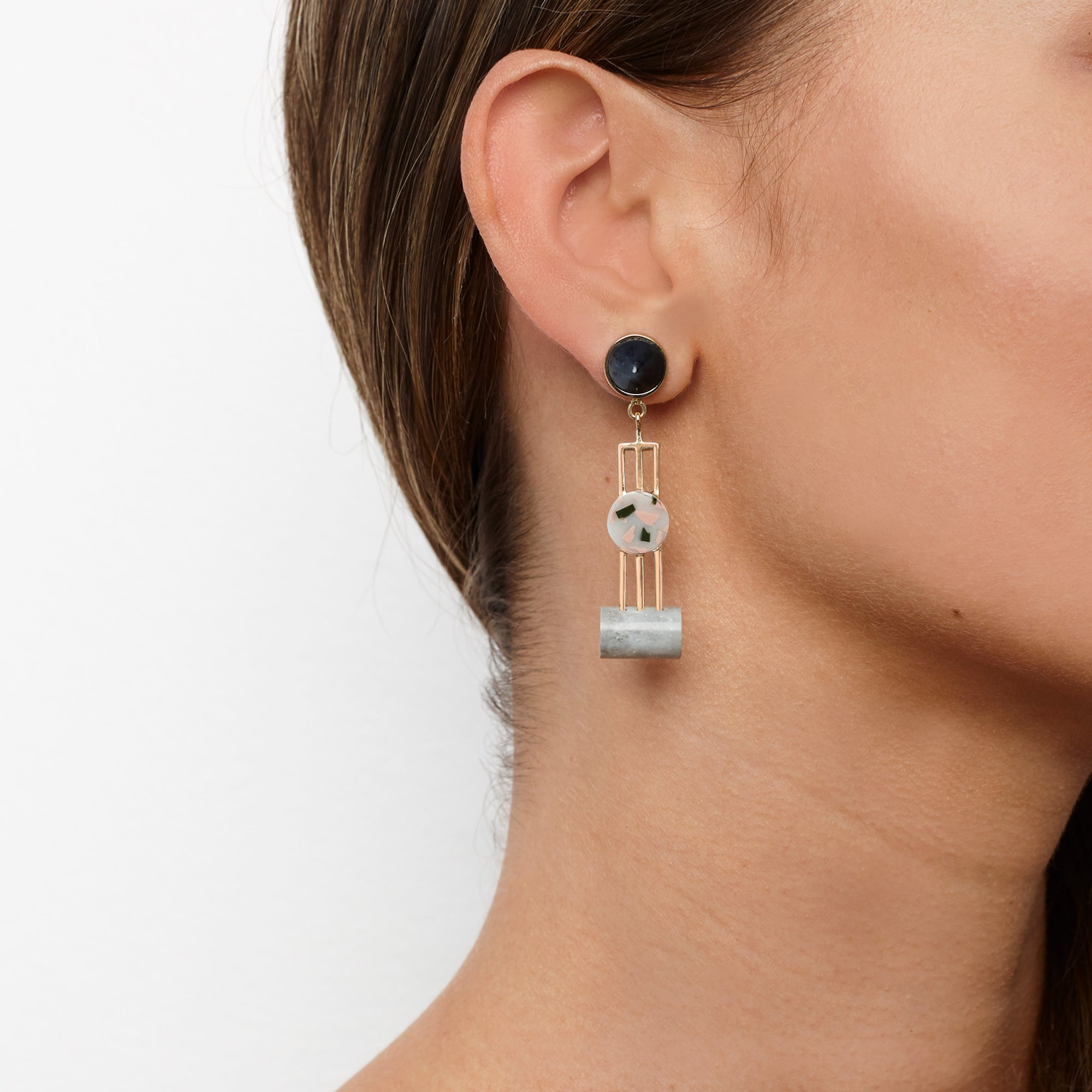 PRE ORDER // Obelisk Earrings - Stone Marle