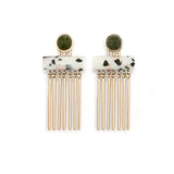 Augustine Earrings - Pudding Stone