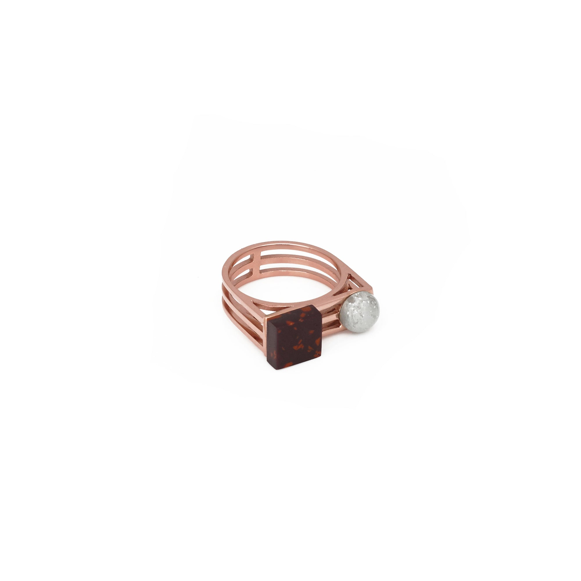 Nyssa Ring - Aubergine Chip