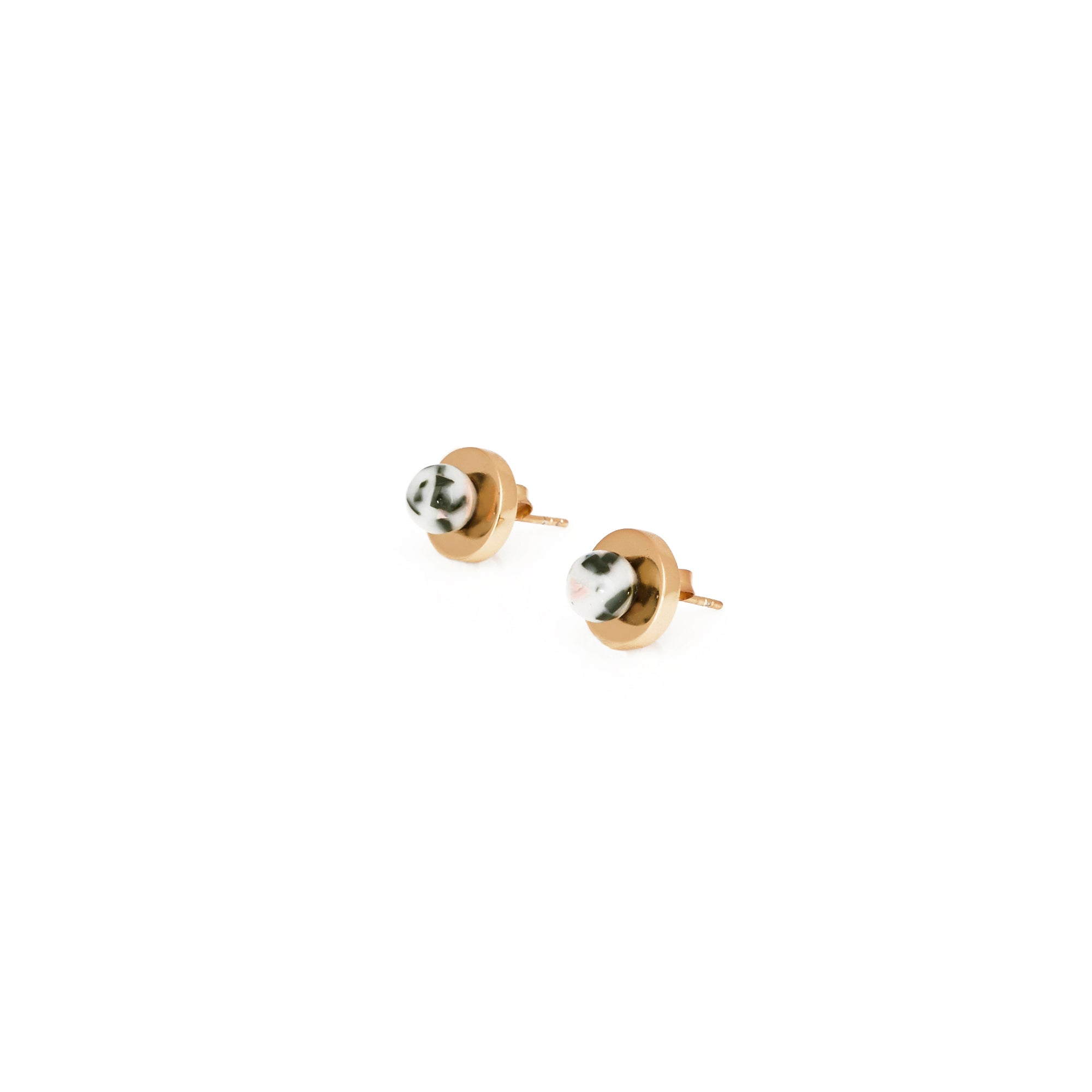 PRE-ORDER // Agnes Stud Earrings - Puddingstone