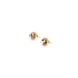 Agnes Stud Earrings - Puddingstone