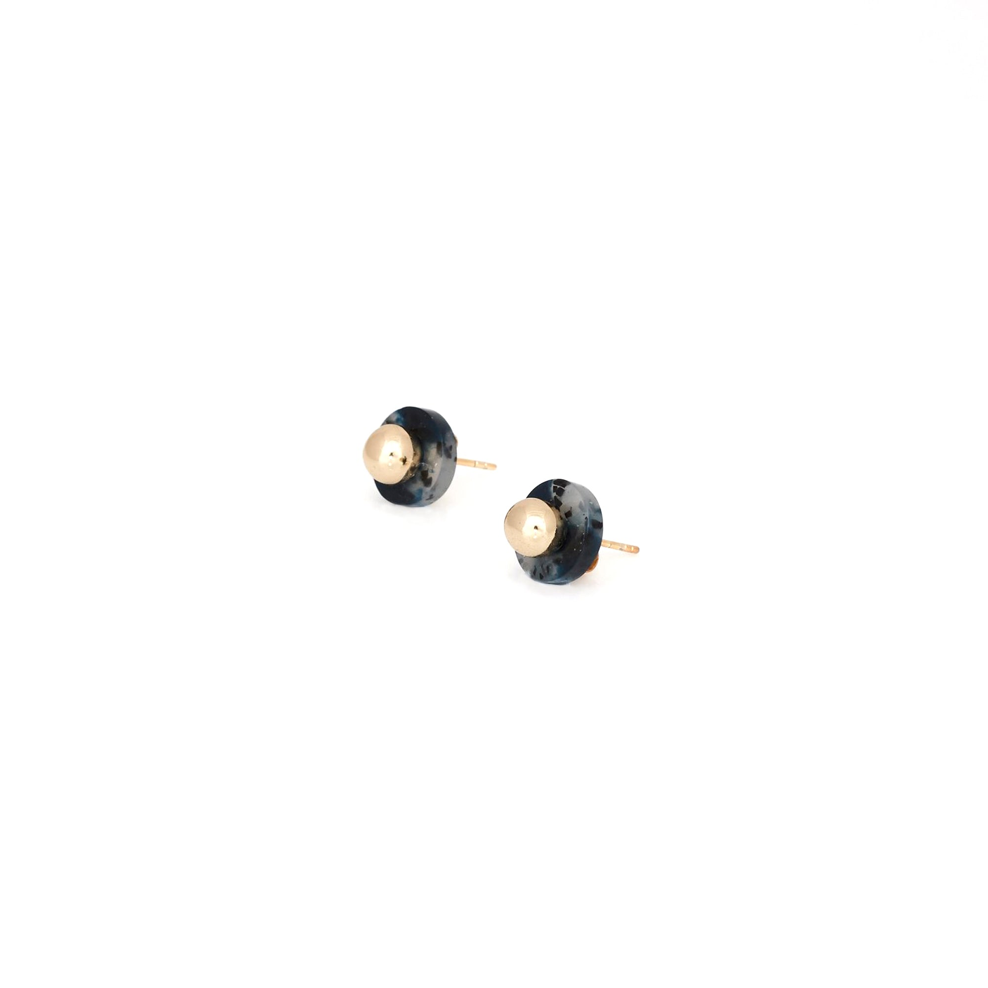 Agnes Stud Earrings - Slate Fleck