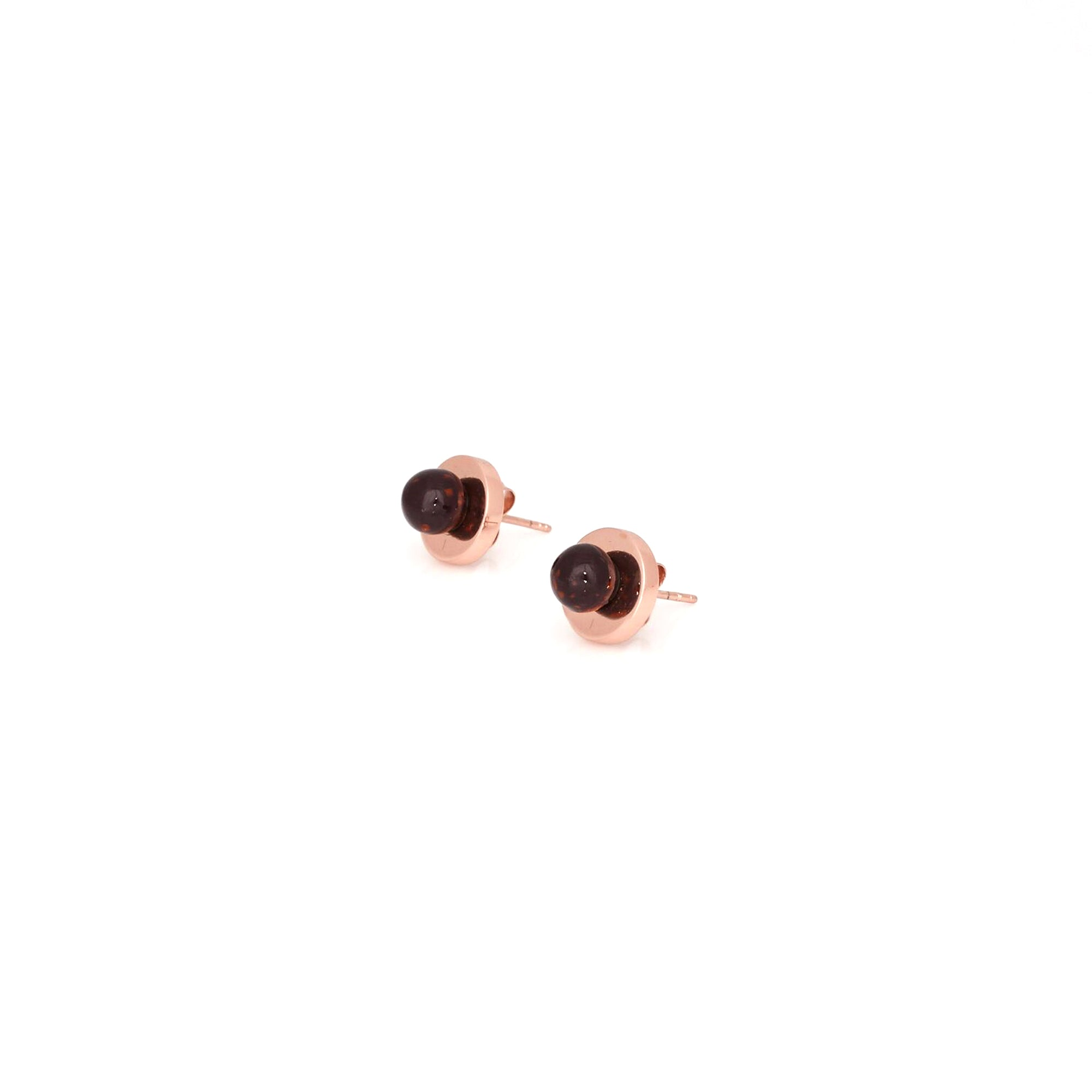 Agnes Stud Earrings - Aubergine Chip