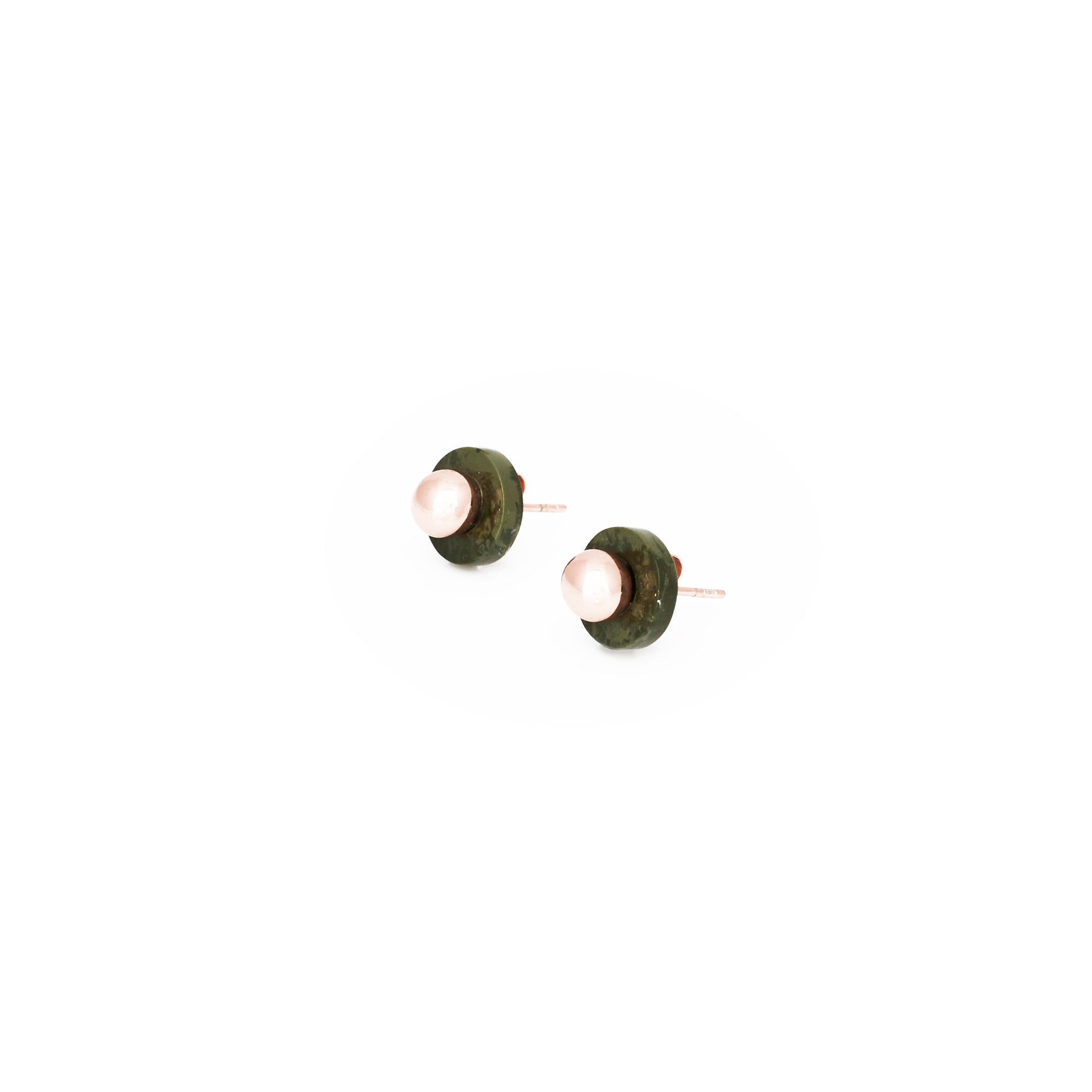 PRE-ORDER // Agnes Stud Earrings - Algae