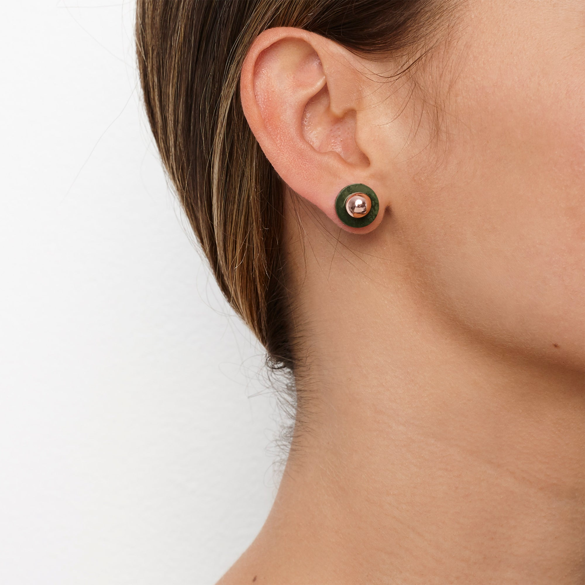 Agnes Stud Earrings - Algae