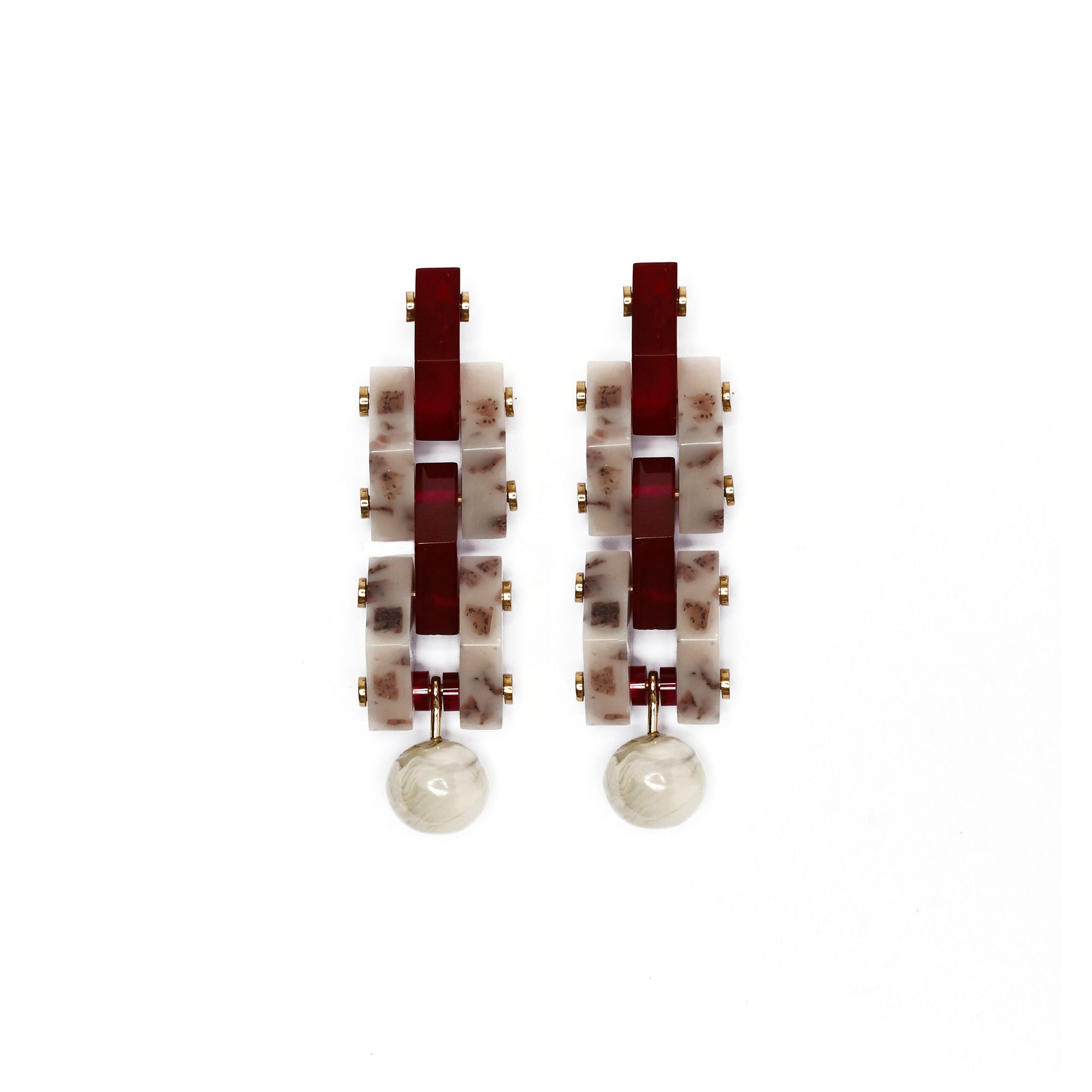 Corona Earrings - Currant