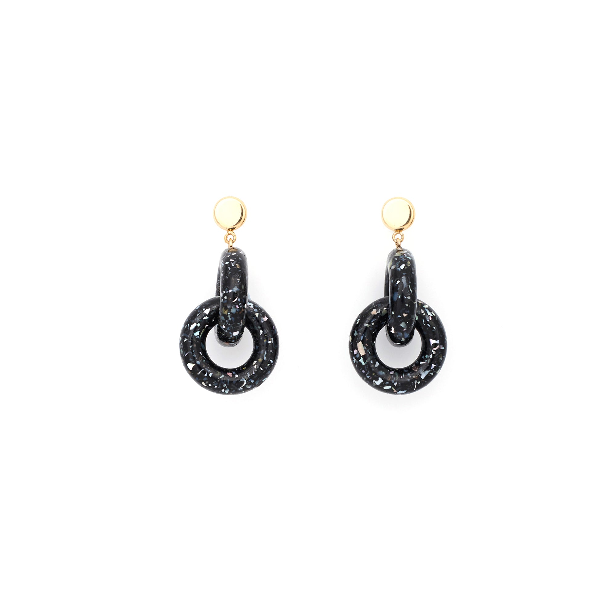 Victory Earring - Dark Granite
