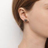 Mini Tempest Earrings - Black Granite